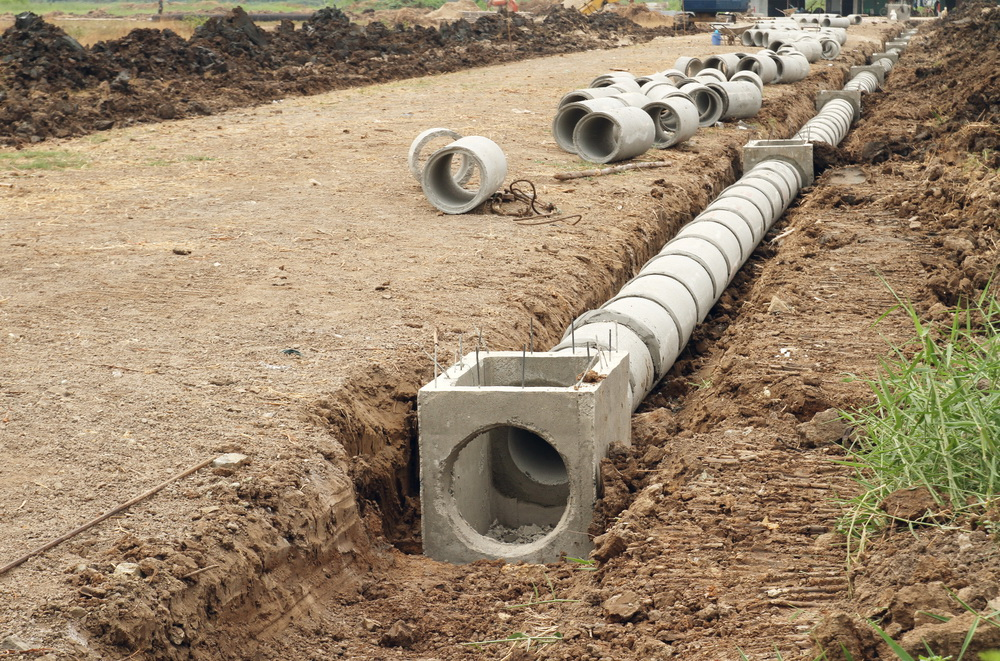Abniah al saad infrastructure works for One pipe drainage system